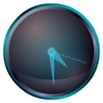 Часы для сайта - Синие