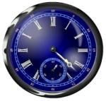 Часы для сайта - тёмно-синие