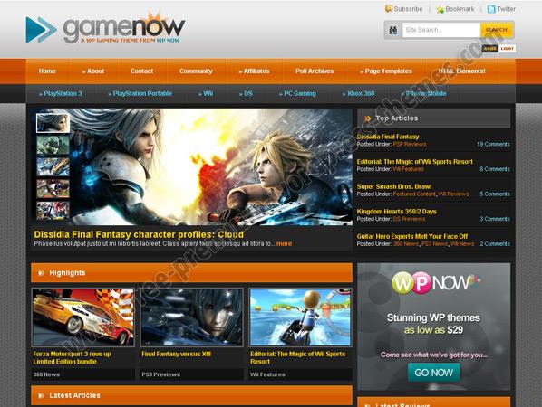 Игровой шаблон GameNow для ucoz