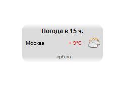 Погода для ucoz