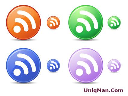 Круглые RSS иконки
