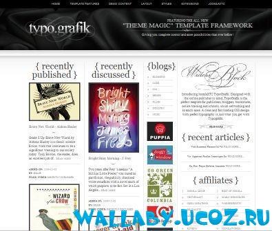 Шаблон Typografik