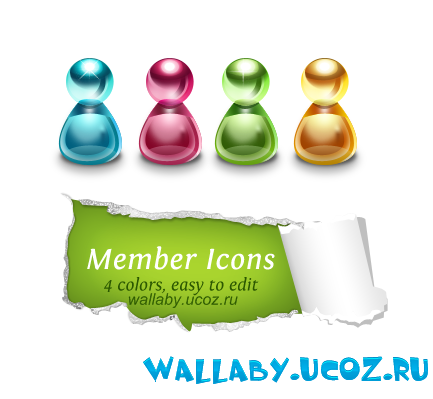 Glossy Member Icon