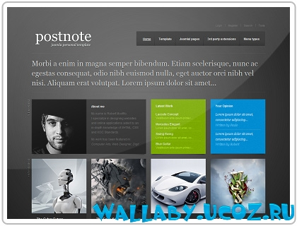 Шаблон GK PostNote - GavickPro