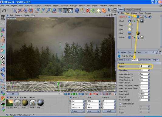 Cinema 4D урок по созданию воды 435045461