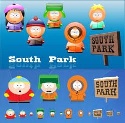 South Park иконки в 3D
