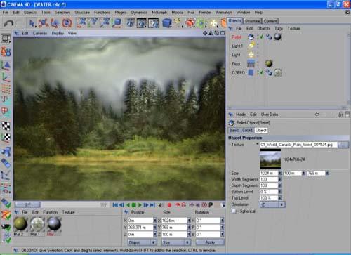 Cinema 4D урок по созданию воды 723649073