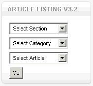 Модуль AJ Article listing 3.2 для Joomla 1.5