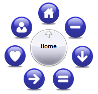 Круглое меню для сайта