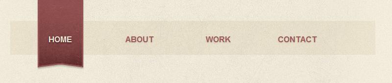 Светлое горизонтальное меню для сайта