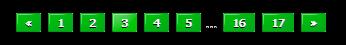 Зеленый переключатель страниц для uCoz